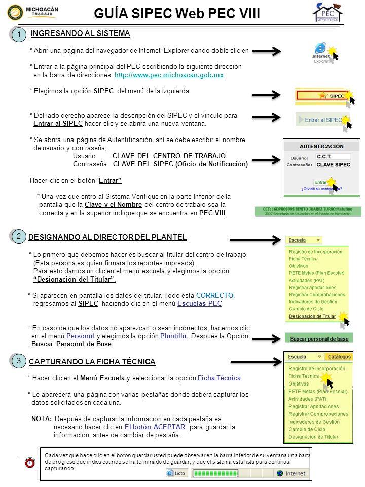GUÍA SIPEC Web PEC VIII 1.