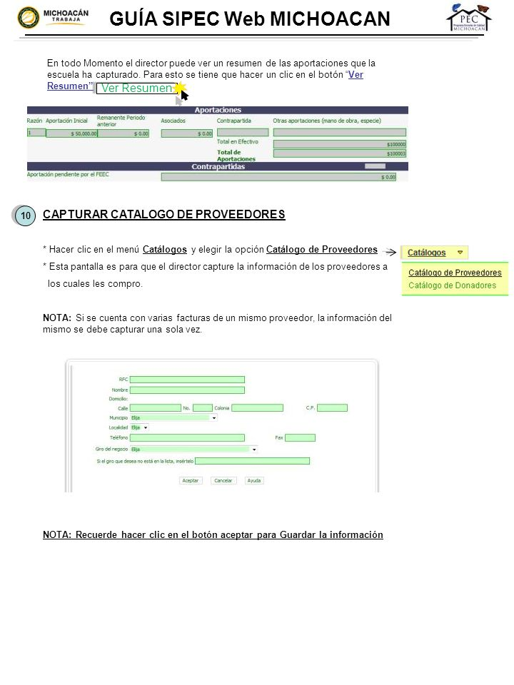 GUÍA SIPEC Web MICHOACAN