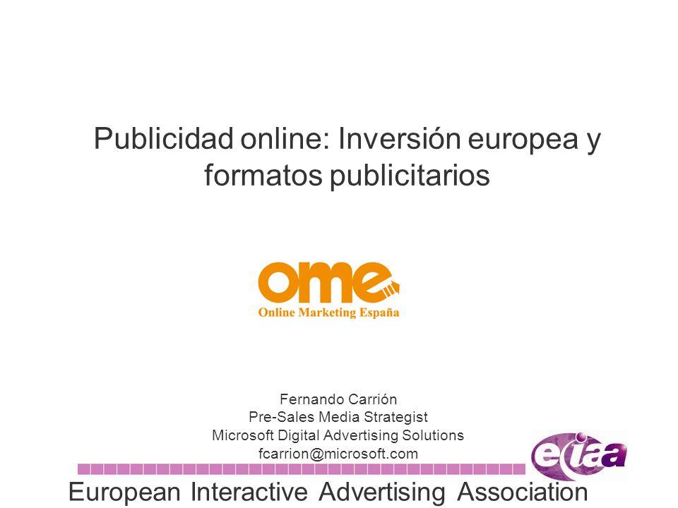 Publicidad online: Inversión europea y formatos publicitarios