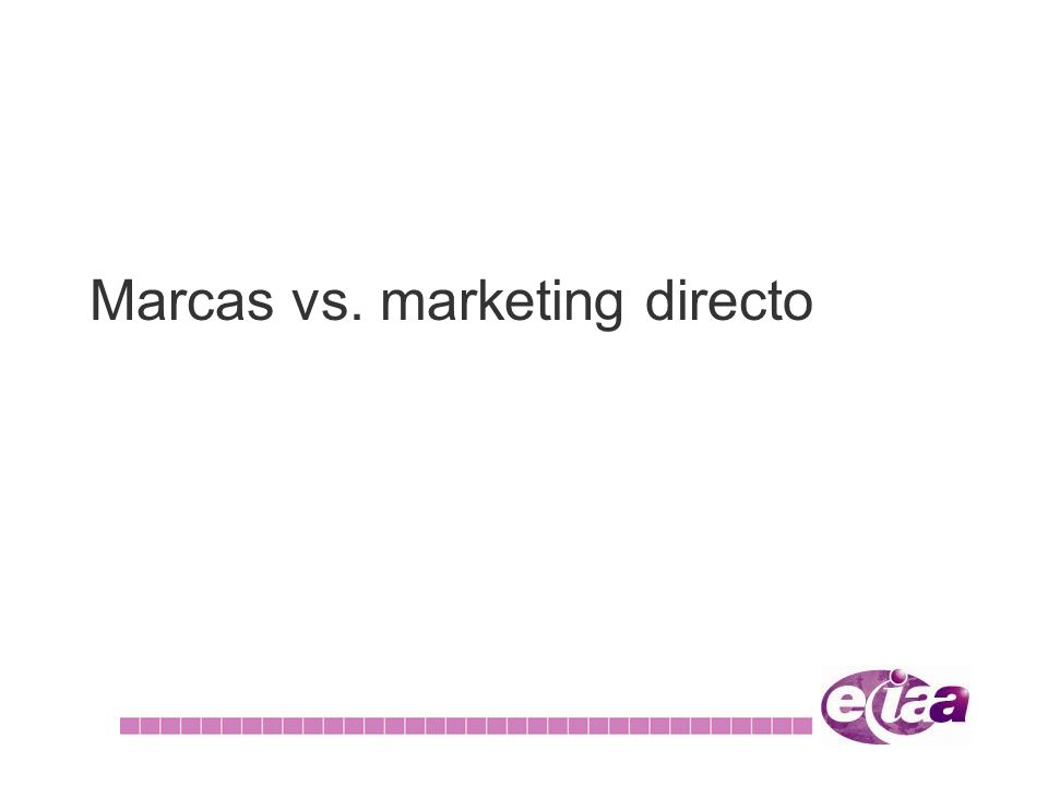 Marcas vs. marketing directo