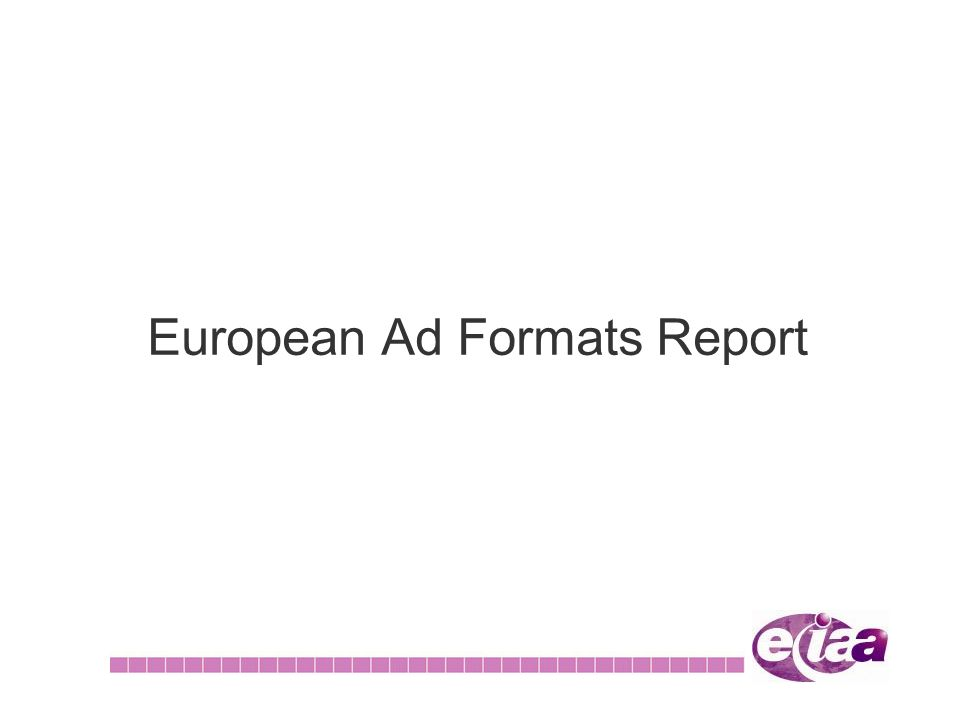 European Ad Formats Report