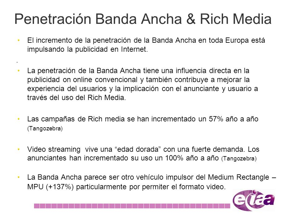 Penetración Banda Ancha & Rich Media