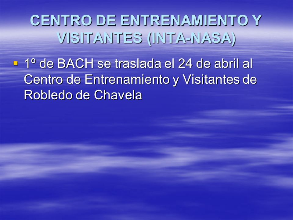 CENTRO DE ENTRENAMIENTO Y VISITANTES (INTA-NASA)