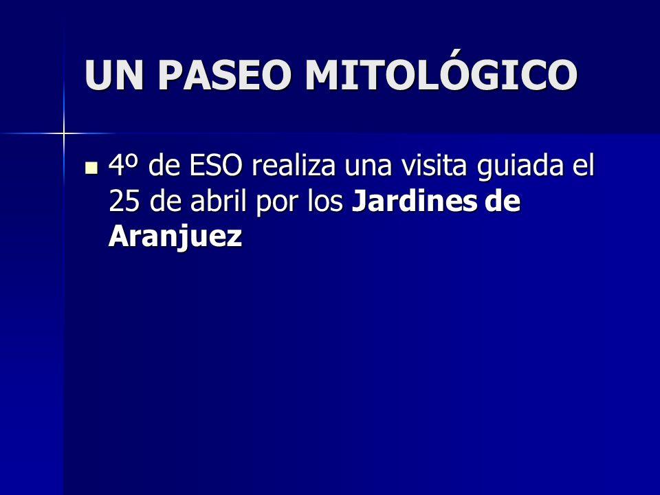 UN PASEO MITOLÓGICO 4º de ESO realiza una visita guiada el 25 de abril por los Jardines de Aranjuez
