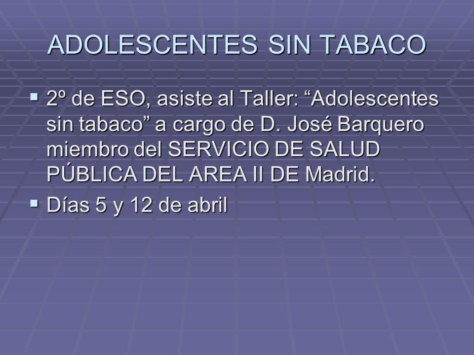ADOLESCENTES SIN TABACO