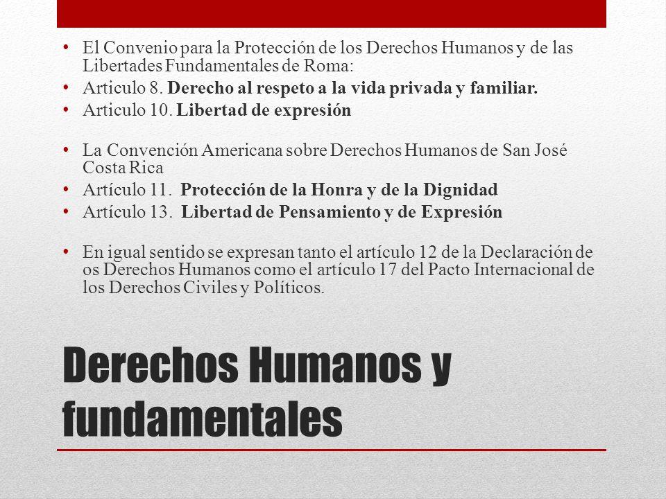 Derechos Humanos y fundamentales