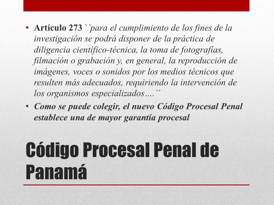 Código Procesal Penal de Panamá