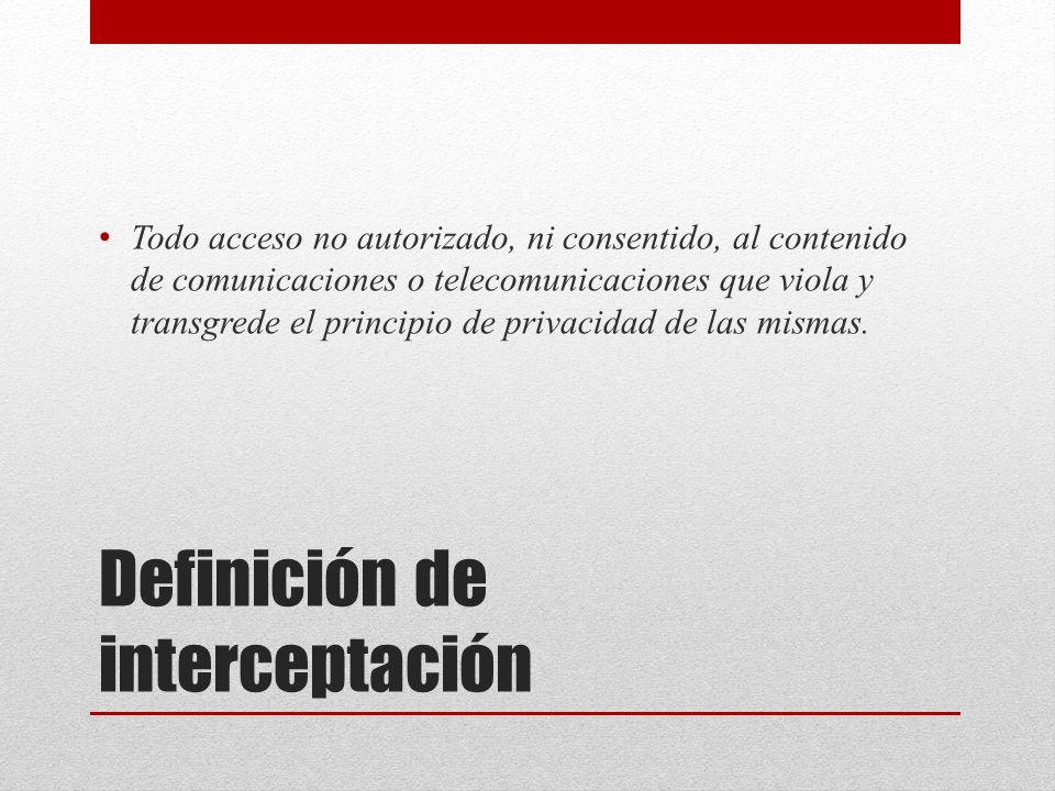 Definición de interceptación