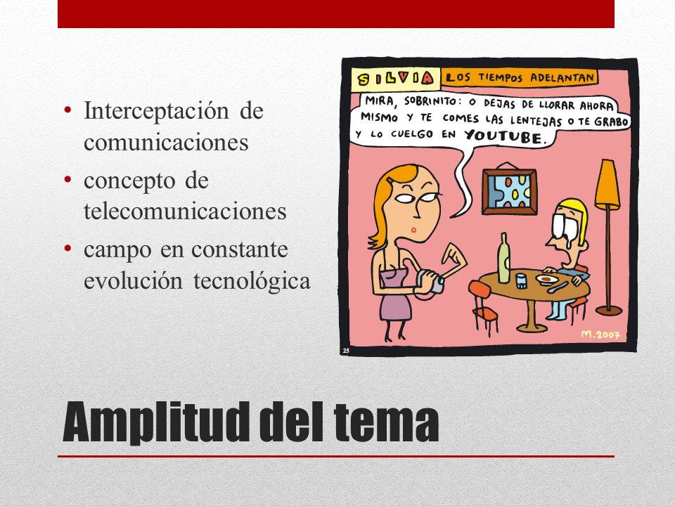 Amplitud del tema Interceptación de comunicaciones