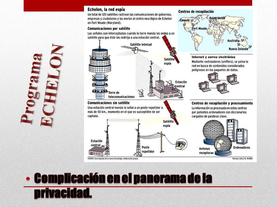 Programa ECHELON Complicación en el panorama de la privacidad.