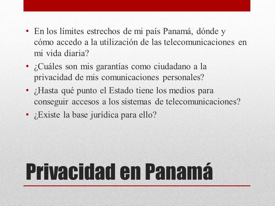 En los límites estrechos de mi país Panamá, dónde y cómo accedo a la utilización de las telecomunicaciones en mi vida diaria