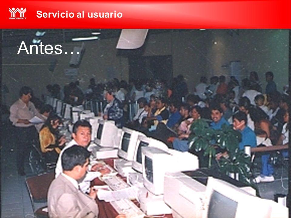 Servicio al usuario Antes…