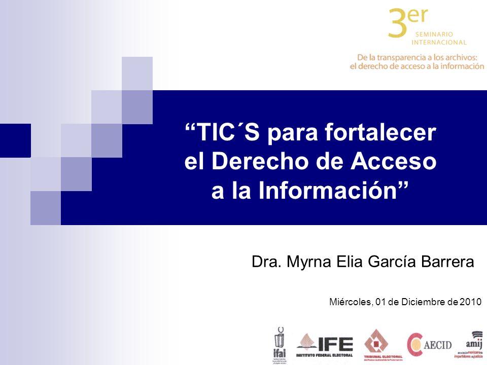 TIC´S para fortalecer el Derecho de Acceso a la Información