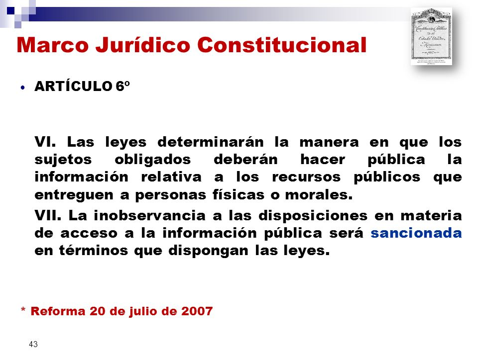 Marco Jurídico Constitucional