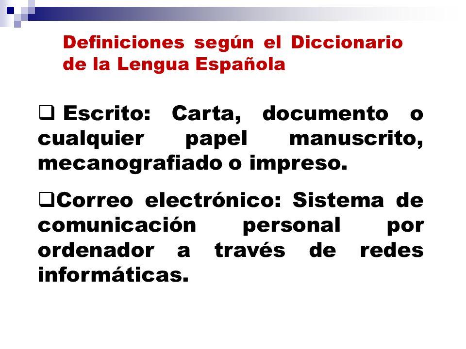 Definiciones según el Diccionario de la Lengua Española