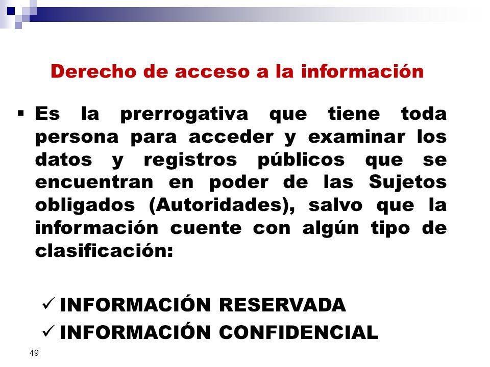 Derecho de acceso a la información