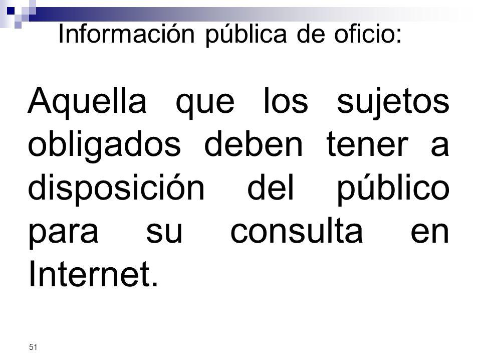 Información pública de oficio: