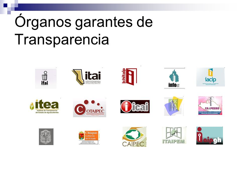 Órganos garantes de Transparencia