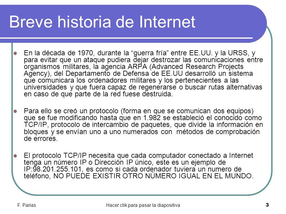 Breve historia de Internet