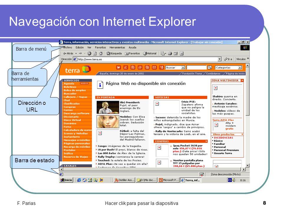 Navegación con Internet Explorer
