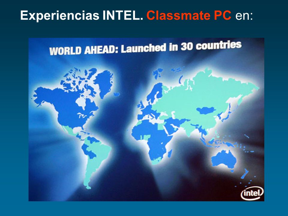 Experiencias INTEL. Classmate PC en: