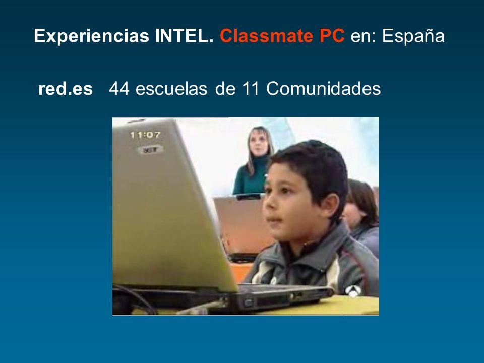 Experiencias INTEL. Classmate PC en: España