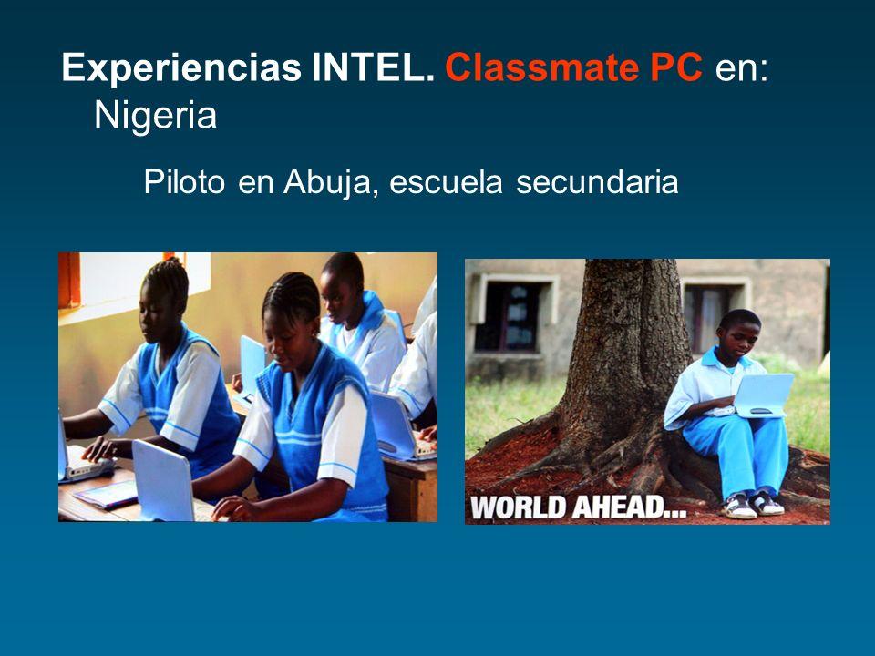 Experiencias INTEL. Classmate PC en: Nigeria