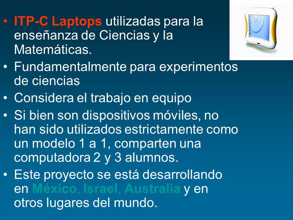 ITP-C Laptops utilizadas para la enseñanza de Ciencias y la Matemáticas.