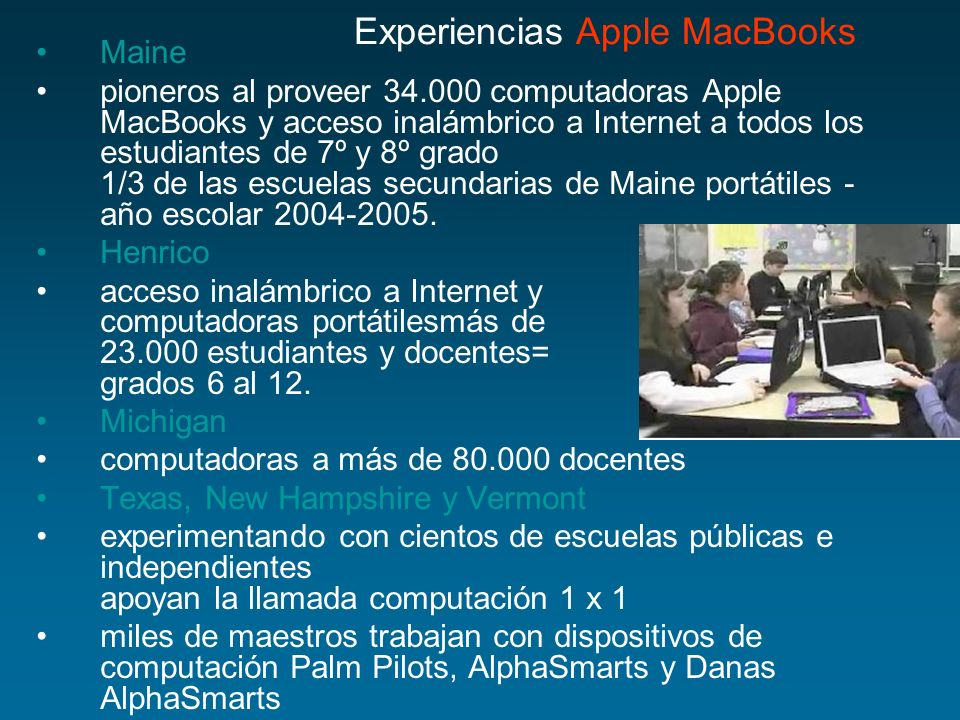 Experiencias Apple MacBooks