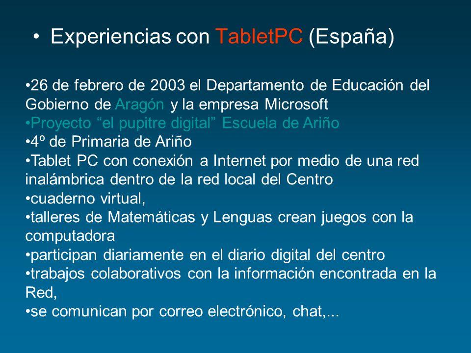 Experiencias con TabletPC (España)