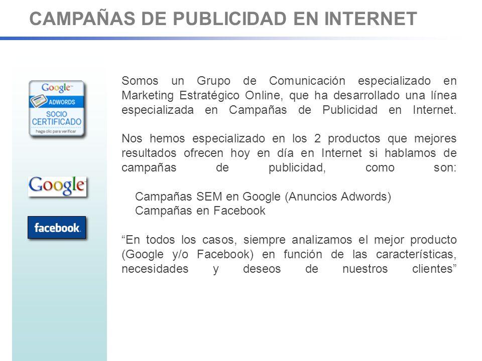 CAMPAÑAS DE PUBLICIDAD EN INTERNET