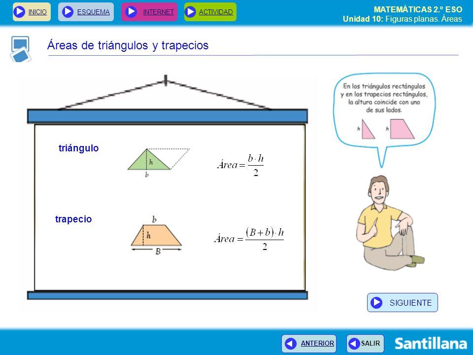 Áreas de triángulos y trapecios