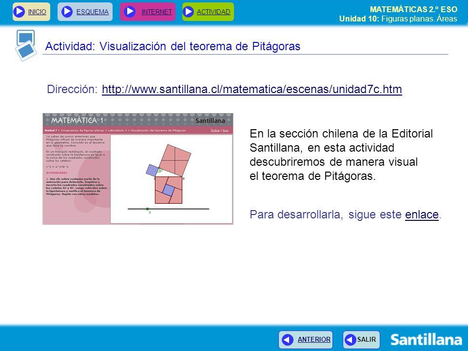 Actividad: Visualización del teorema de Pitágoras