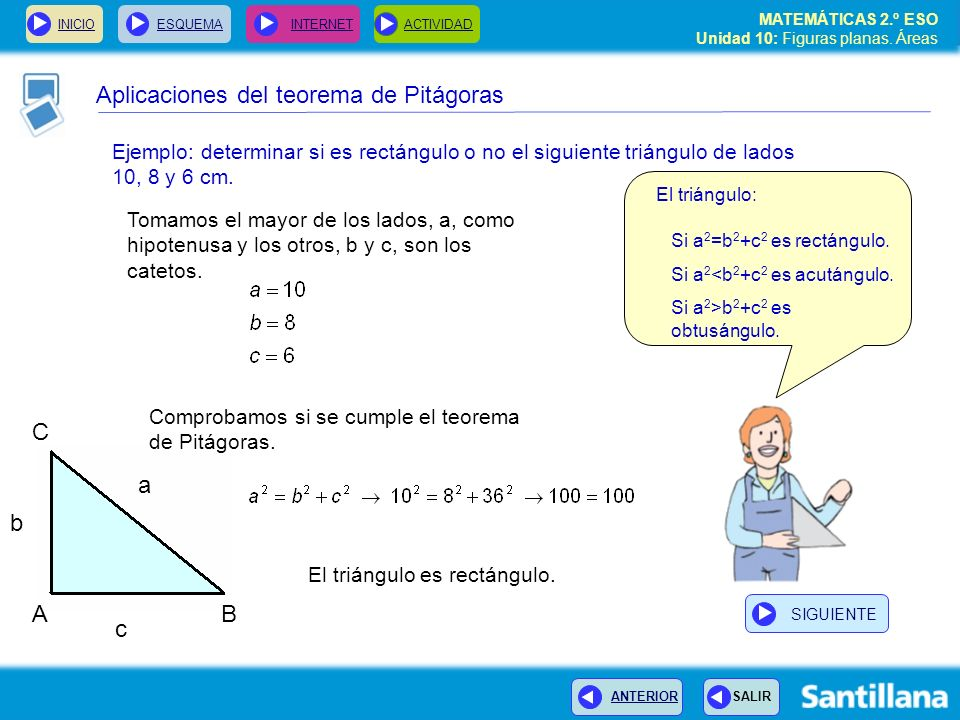 Aplicaciones del teorema de Pitágoras