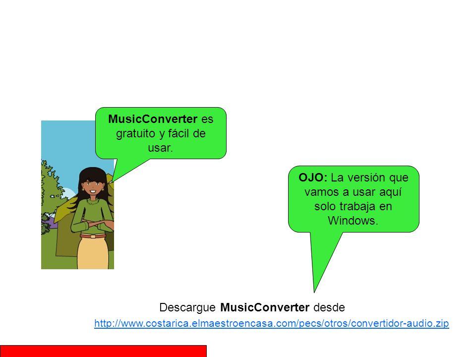 MusicConverter es gratuito y fácil de usar.