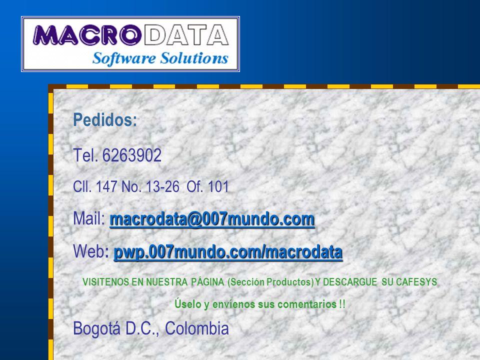 Mail: macrodata@007mundo.com Web: pwp.007mundo.com/macrodata