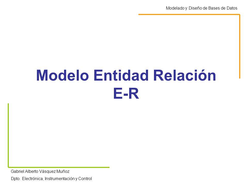 Modelo Entidad Relación E-R