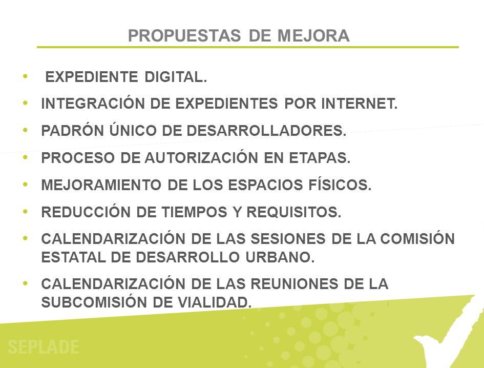 PROPUESTAS DE MEJORA EXPEDIENTE DIGITAL.