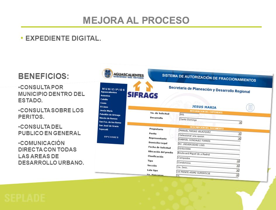 MEJORA AL PROCESO BENEFICIOS: EXPEDIENTE DIGITAL.
