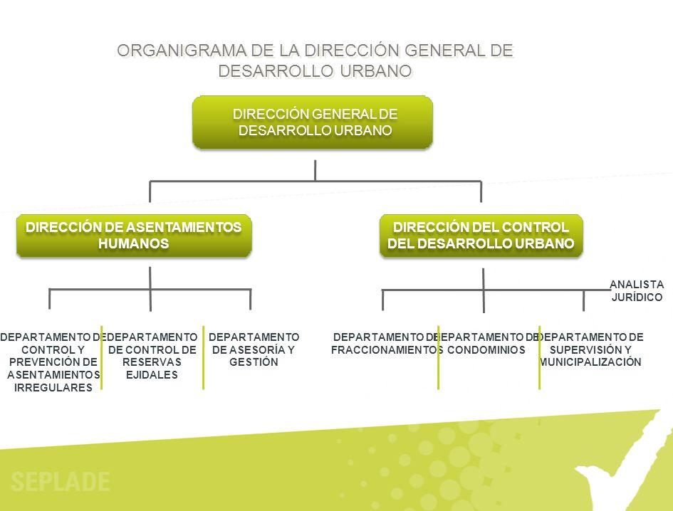 ORGANIGRAMA DE LA DIRECCIÓN GENERAL DE DESARROLLO URBANO