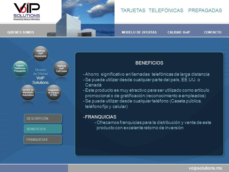 TARJETAS TELEFÓNICAS PREPAGADAS