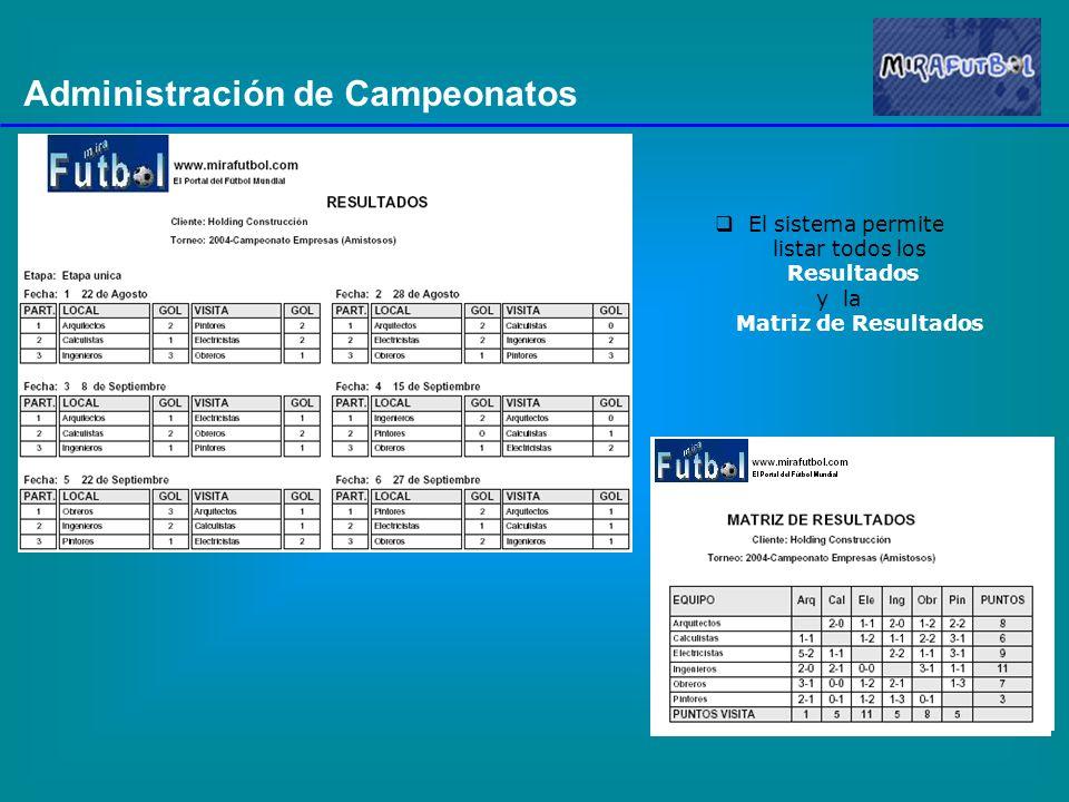 Administración de Campeonatos