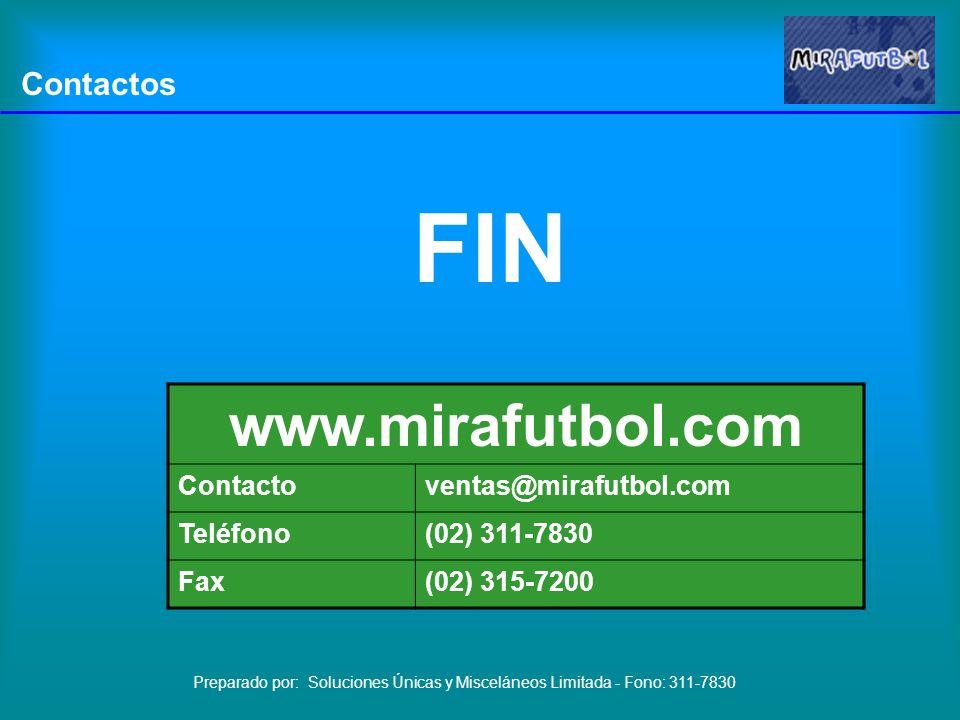 www.mirafutbol.com Contactos FIN Contacto ventas@mirafutbol.com