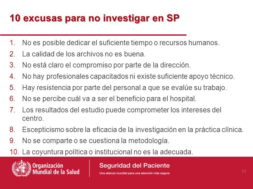 10 excusas para no investigar en SP