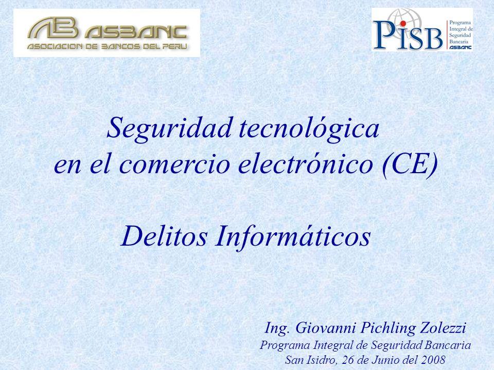 Seguridad tecnológica en el comercio electrónico (CE)