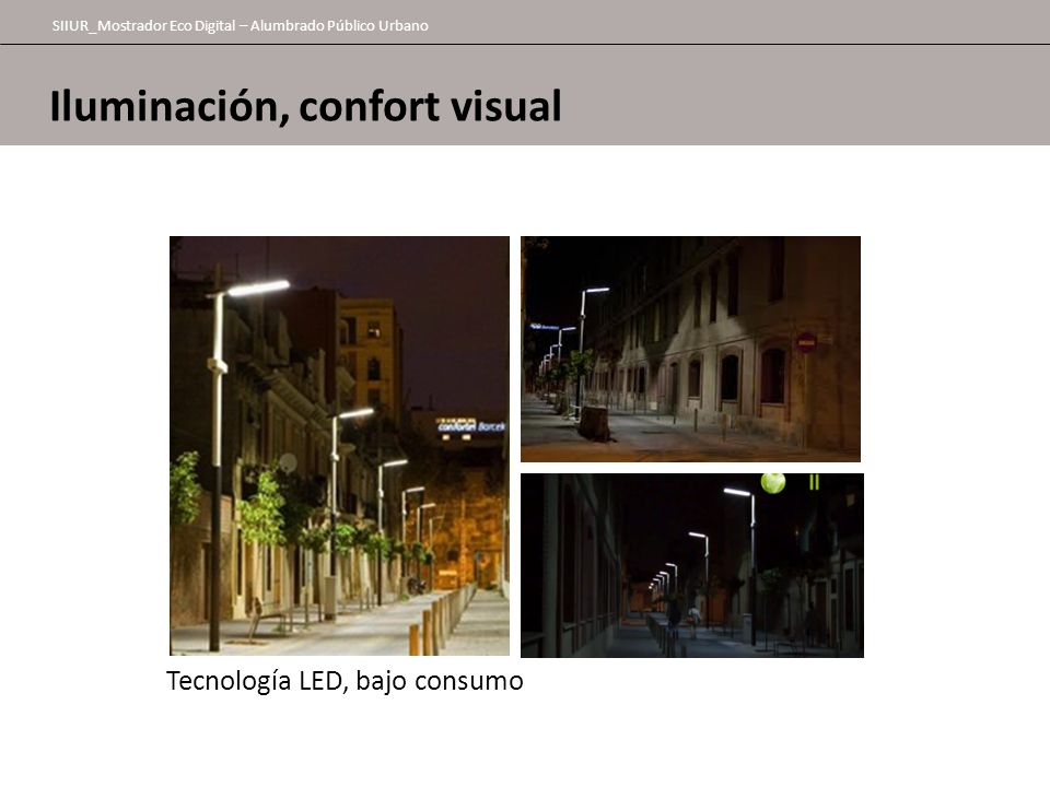 Iluminación, confort visual