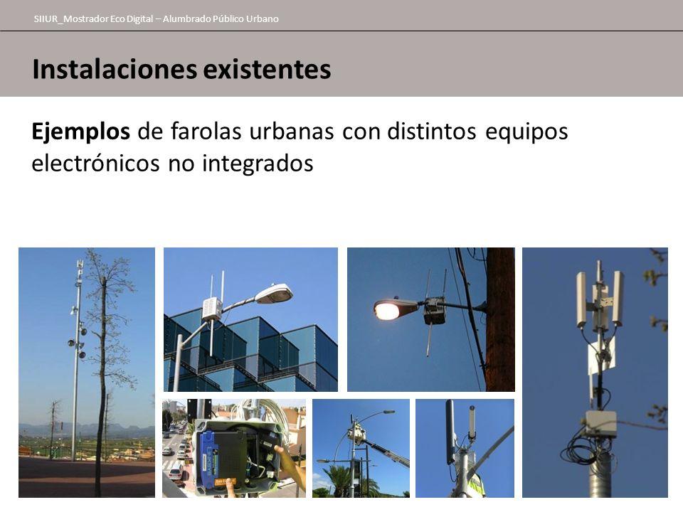 Instalaciones existentes