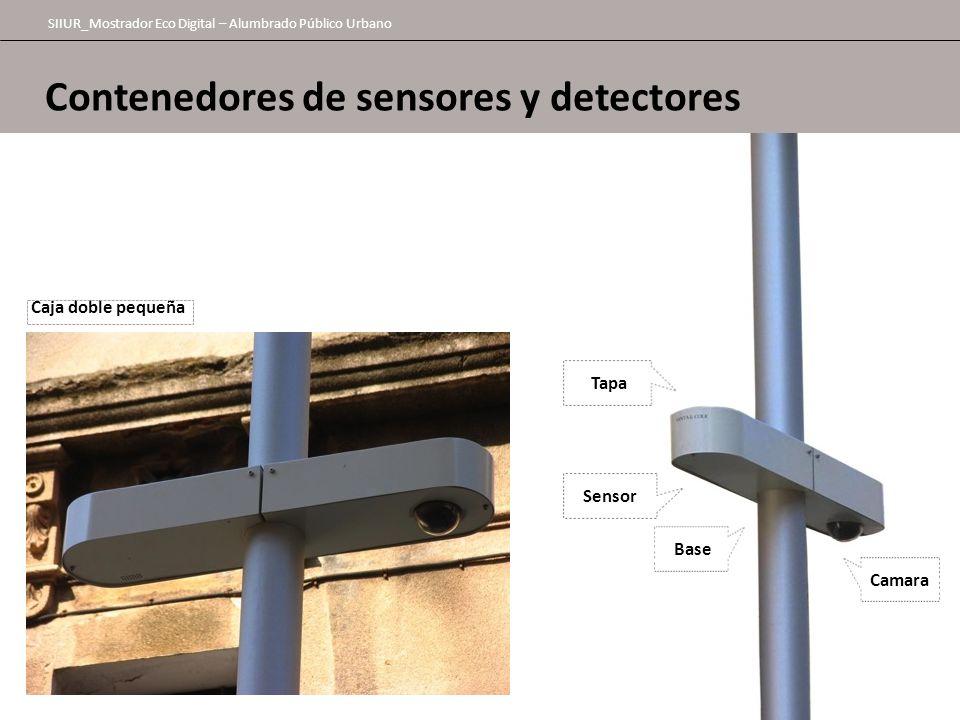 Contenedores de sensores y detectores