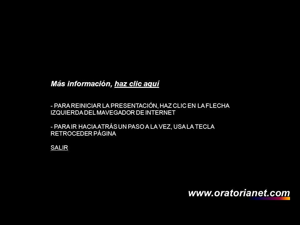 . www.oratorianet.com Más información, haz clic aquí