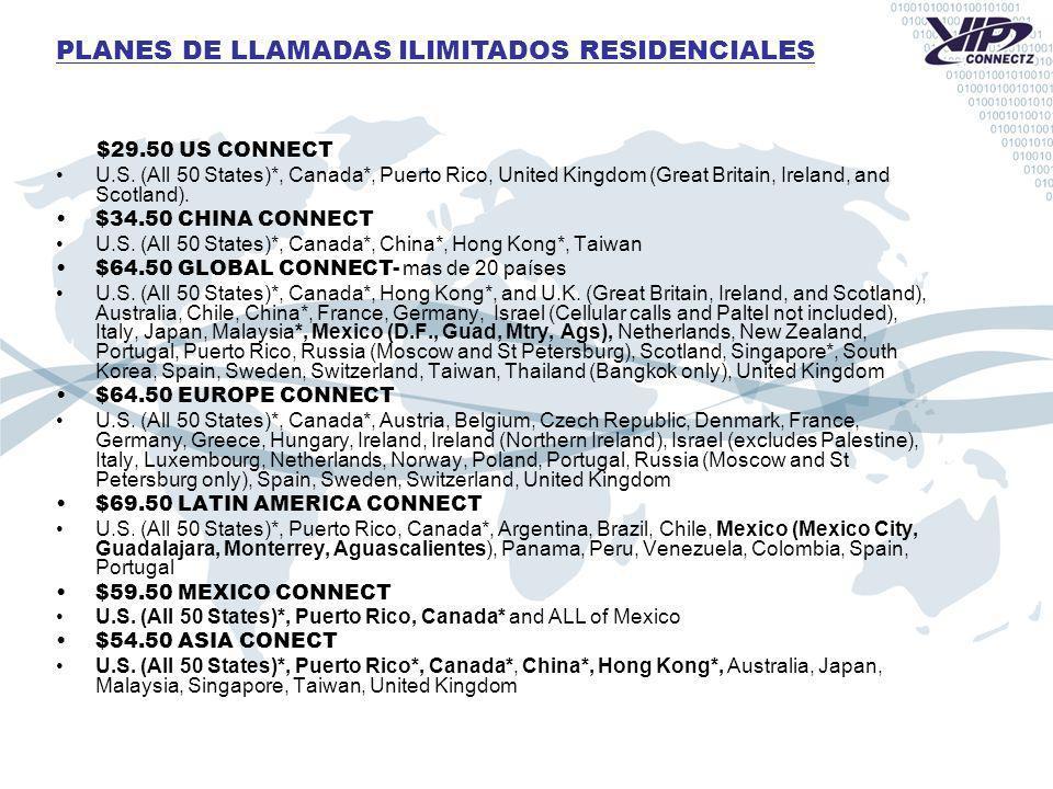 PLANES DE LLAMADAS ILIMITADOS RESIDENCIALES